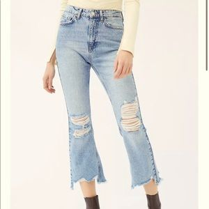 BDG Wilco Destroyed High-Waisted Crop Flare Jeans